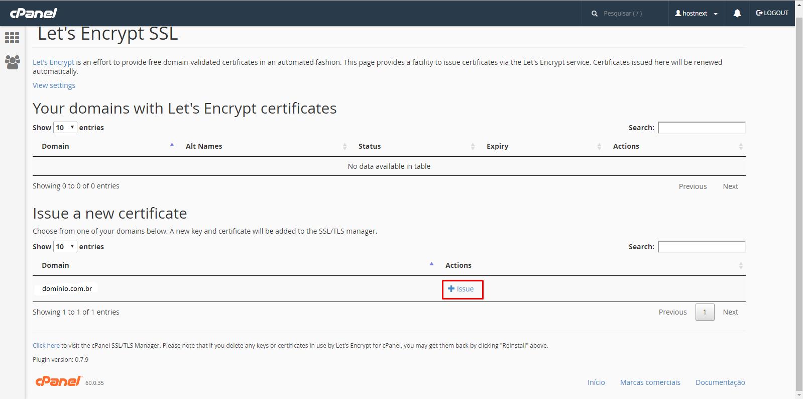 Certificado de segurança Let's Encrypt - Instalação e configuração.